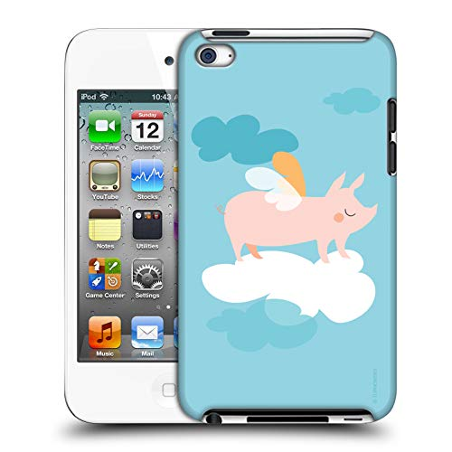 Official Turnowsky Pig Animals Hard Back Case Compatible for Apple iPod Touch 4G 4th Gen (Pig Ipod 4 Case)