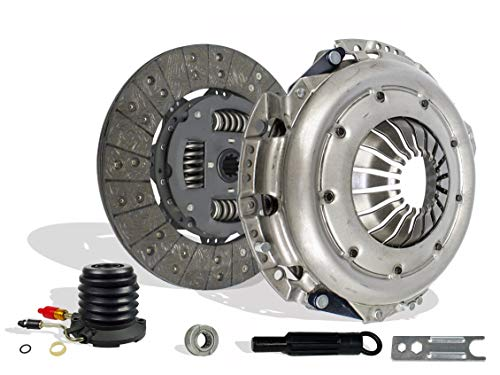 Clutch Kit And Slave Works With Ford Pickup Truck F150 F250 XL XLT Lariat Base 1997-2000 4.6L V8 GAS SOHC 4.2L V6 GAS OHV Naturally