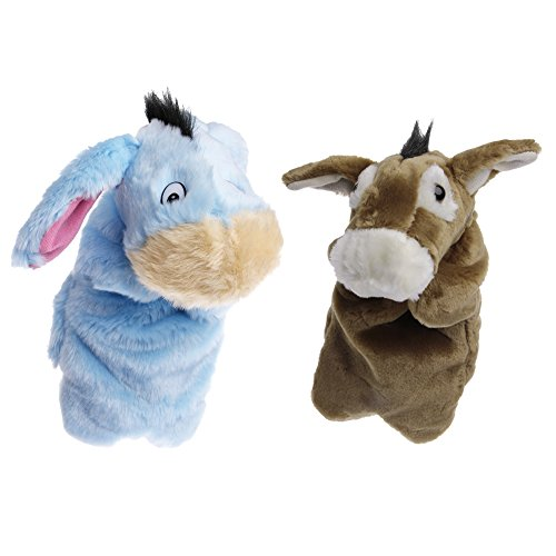 Puppet Donkey (SCASTOE Animal Hand Finger Puppet Plush Donkey Doll Baby Kids Development Teaching Toy (brown))