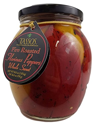 Yellow Roasted Peppers - Tassos Fire Roasted Florinas Peppers Whole Sweet Red &Yellow 36.5oz
