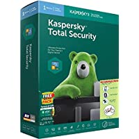 Kaspersky Total Security Slim1PC 1Year Version 18, Windows 10/8.1/8/7SP Windows Based Desktop & Laptop Tablets Smart Phone Android 4.4 IOS 10.0 , With free mobile security