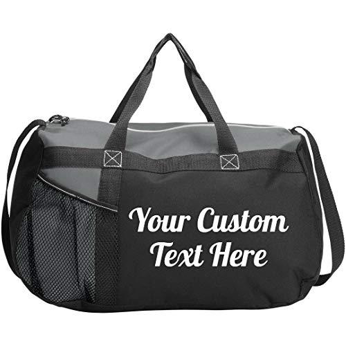 Custom Script Text Gym Workout Bag: Gym Duffel