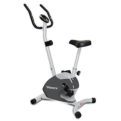 Velocity Exercise Gray Magnetic Upright Exercise Bike