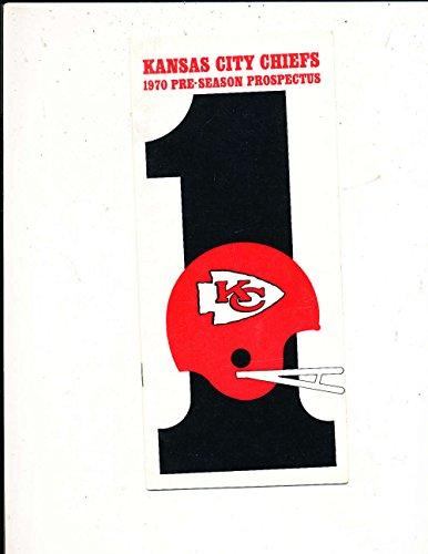 1970 Pre Season Kansas City Chiefs Football Press Media Guide