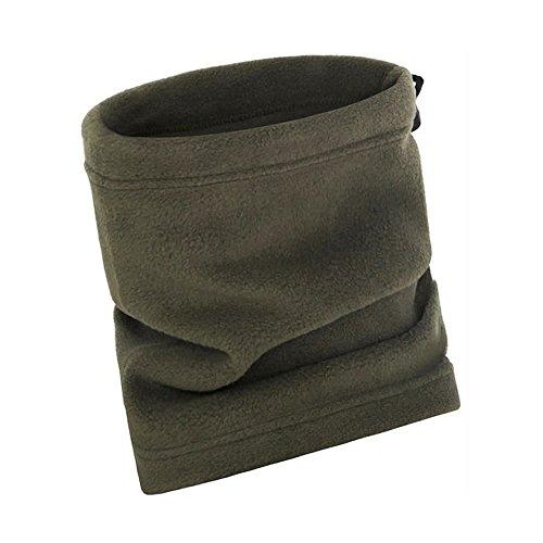 AStorePlus Fur Fleece Neck Warmer, Reversible Neck Gaiter Tube, Ear Warmer Headband, Balaclava Ski Face Mask For Women Men, Olive
