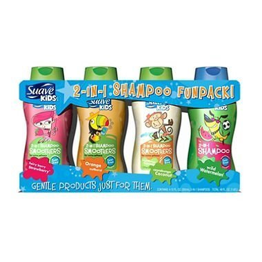Suave Kids 2 in 1 Hair Smoothers Shampoo Fun Pack - 4/12 oz. (Suave Kids Hair Smoothers)