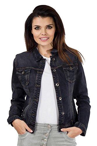 OnadoFitted Stretch Faded Denim Jacket - Black (US8 / (Faded Stretch Jacket)