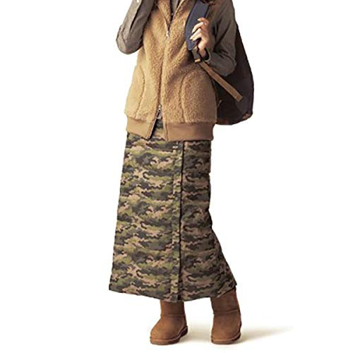 Piccoli Wrap Lungo Piumoni Espandibile Spessi Camouflage black Caldi Gonna Basso m Invernale Slim Verso Fit Il j Hip Femmina Fad wFaq11