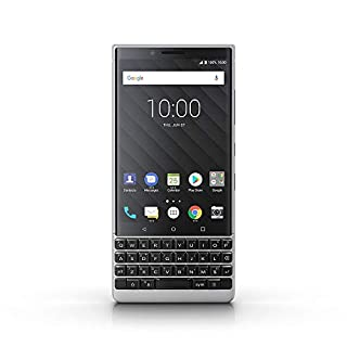 BlackBerry KEY2 Silver Unlocked Single Sim BBF100-2 Single Sim Android Smartphone (AT&T/T-Mobile) 4G LTE, (Silver 64GB - US Warranty)