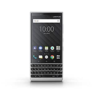 Blackberry KEYTWODS64GB4G 4.5 Inch Blackberry Key2 Dual SIM - 64GB, 6GB RAM, 4G LTE, Silver - Silver