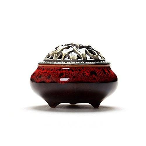 HY7 Celadon Ceramic Incense Burner Antique Alloy Embalming Incense Road Sandalwood Melting Furnace by HY7