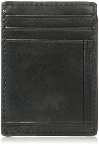 Fossil Embossed Wallet - Relic by Fossil Men's Bowen RFID Embossed Front Pocket Leather Wallet with Clip, black, One Size