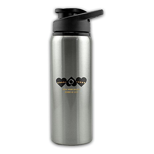 Price comparison product image Total Solar Eclipse With Heart August 21 2017 Stainless Steel Layer Sports Water Bottle With Wide Mouth 24oz