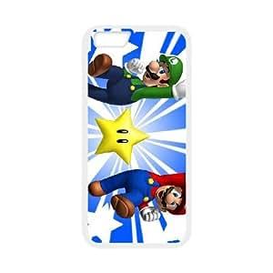 Super Mario Bros para funda iPhone 6s 4,7 pulgadas funda del teléfono celular de cubierta blanca