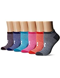 Under Armour Women's Essential No Show Liner Socks (6 Pairs)