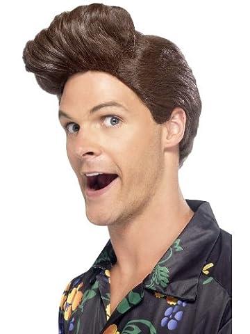 Smiffy's Men's Brown Quiff Wig, One size, Nineties Detective Wig,5020570432594 (Nineties Halloween Kostüme)