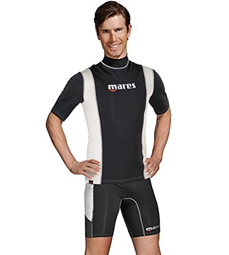 Mares Men's Fire Skin Short Sleeve Shirt Watersport Protection Gear, Medium