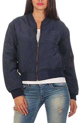 Bomber Hoppe Nadi Gen Marino Azul Jacket Chaqueta Pilot Mujer tAOHq
