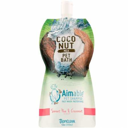 Tropiclean Aimable Shampoo Pouch for Pets, Sweet Pea and Coconut