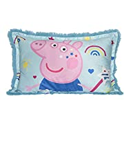Peppa Pig Jumbo Bed Pillow for Kids, Funky Fur Shaggy Pillow, Soft and Cozy Warm Plush Cushion for Bed, Chair or Couch (20x30 inches)