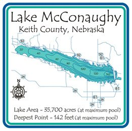Amazon Lake Mcconaughy 3D Laser Carved Depth Map Keith