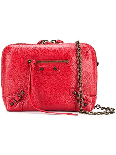 Balenciaga Women's 500800D940t6524o Red Leather Shoulder Bag