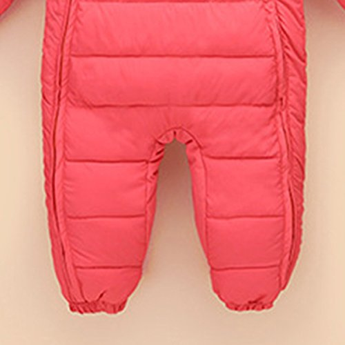 48 Happy Romper Warm Baby Down Months Winter Cherry Snowsuit 6 Thick Pink Outerwear Jumpsuit Hooded Puffer Jacket 66Bpqnx