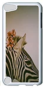 Fashion Customized Case for iPod Touch 5 Generation Cool White Plastic Case Back Cover for iPod Touch 5th with Zabra