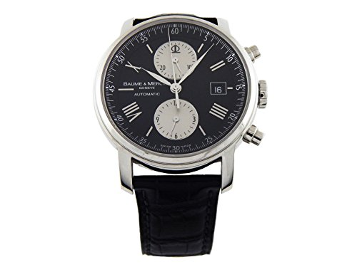 baume-et-mercier-classima-black-mens-watch-08733-certified-pre-owned