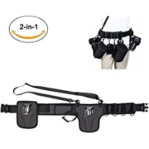 CADeN Universal Camera Waist Belt Holster Dual Camera System for DSLR, Mirrorless Cameras, Lens Cases and Accseeories