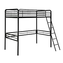 DHP Metal Twin Loft Bed, Black