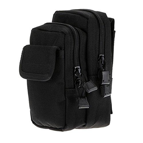 liangdongshop Multipurpose Double Zipper Molle Tactical EDC Utility Gadget Pouch Waist Bag