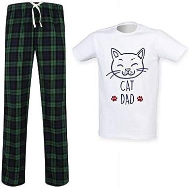 Cat para Hombre Papá Tartán Conjunto Pijama Día del Padre ...