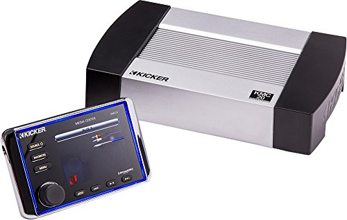 Kicker KMC20 Weather-Resistant Premium Media Center with LCD Full-Color Screen, Bluetooth Audio Streaming and SiriusXM Radio Ready