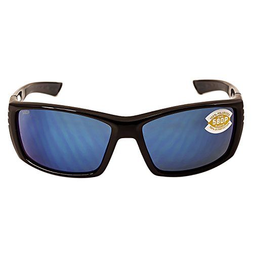Costa Del Mar Cortez 580P Cortez, Shiny Black Blue Mirror, Blue - Marine West Sunglasses