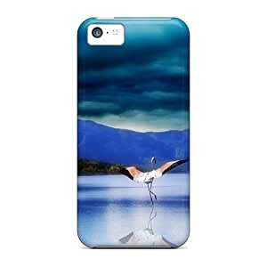 For Iphone Case, High Quality Enchanting Bird Earthscape For Iphone 5c Cover Cases