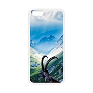 iPhone 6 Case,Mount Pilatus Goat Hard Shell Back Case for White iPhone 6 Okaycosama330011