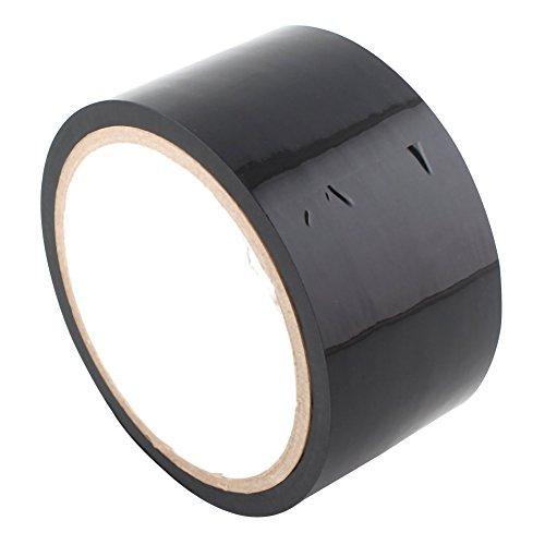 Asher 15m No Glue Electrostatic Adsorption Sex Bondage Adhesive Tape Bdsm Adult Toy (Black)