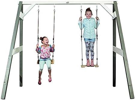 Kinderschaukel 6.6.5.3094: Doble Columpio balancín para niños – Madera – Columpio Infantil – Jardín Columpio – Producido en BRD: Amazon.es: Juguetes y juegos