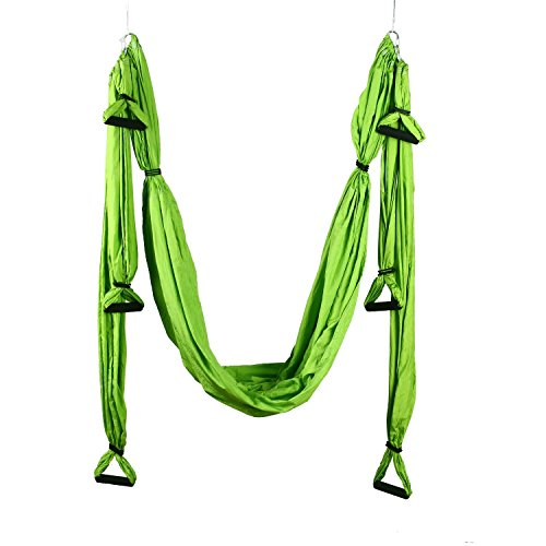 DAS Leben Aerial Yoga Hammock Inversion Swing Yoga Swing/Sling/Inversion/Trapeze Tool Pilates Yoga Fitness (8 Colour Options)