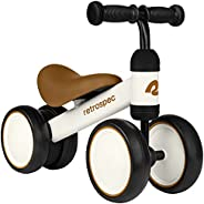 Retrospec Cricket Baby Walker Balance Bike with 4 Wheels for Ages 12-24 Months - Toddler Bicycle Toy for 1 Yea