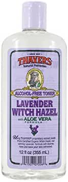 Thayers Alcohol-Free Witch Hazel with Organic Aloe Vera Formula Toner, Lavender 12 oz ( Pack of 8)