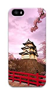 iPhone 5S Cases & Covers -Japanese Cherry Trees In Bloom Custom PC Hard Case Cover for iPhone 5/5S ¨C White