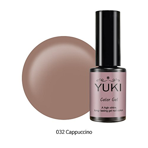 Color Gel by YUKI   UV LED Soak off Nail Polish 200 Every color you can imagine 0.17oz/5ml (032 Cappuccino)