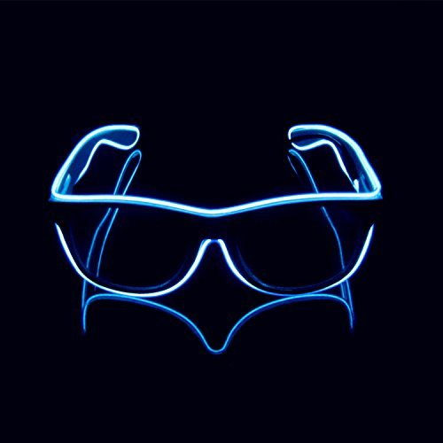 Aquat Light up Electroluminescent EL Wire LED Glasses Light Shutter Frame Costumes Eyeglasses RB01