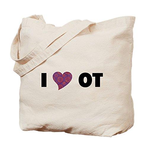 CafePress–I corazón OT–Gamuza de bolsa de lona bolsa, bolsa de la compra Small caqui