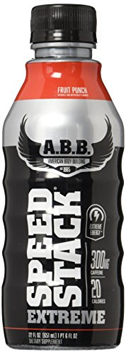 Extreme Fruit (American Body Building Extreme Speed Stack, Fruit Punch, 22 Fl Oz,12 Count)