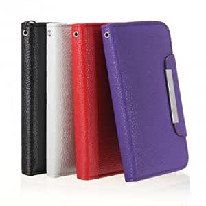 Leather Case Skin Card Slot Pouch Wallet For Samsung Galaxy S4 i9500 --- Color:Black