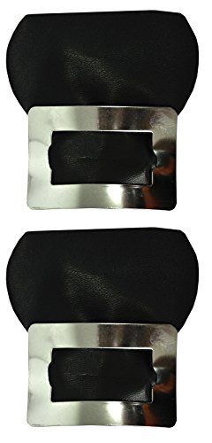 Morris Costumes Colonial Shoe Buckles Silver Costume Accessory,Black/Silver,One ()