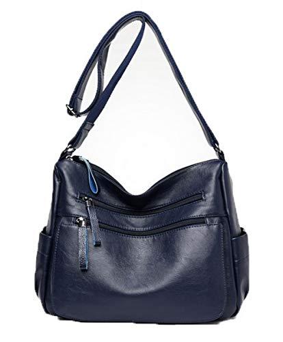 Bleu Achats Zippers AllhqFashion à bandoulière FBUFBD180974 Pu Des sacs Cuir Sacs Femme qqwBIP
